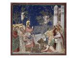Entrance into Jerusalem Giclée-tryk af  Giotto di Bondone