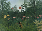 Foret Vierge au Soleil Couchant Giclee Print by Henri Rousseau