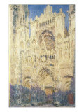 Rouen Cathedral in the Afternoon Reproduction procédé giclée par Claude Monet
