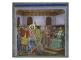 Jesus Before Caiaphas Gicl&#233;e-Druck von Giotto di Bondone 