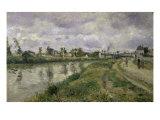 The River's Edge Reproduction procédé giclée par Camille Pissarro