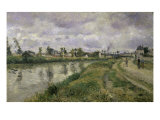 The River's Edge Giclee Print by Camille Pissarro