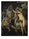 The Temptation of Adam and Eve Giclee Print by  Titian (Tiziano Vecelli)