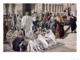 Pharisees Question Jesus Giclee Print by James Tissot
