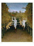 Football Players Giclee Print by Henri Rousseau