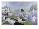 Bathers at Asnieres Giclee Print by Georges Seurat