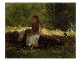 On the Fence Giclee Print by Winslow Homer