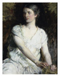 Woman in White Giclee Print by Abbott Handerson Thayer