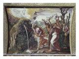 Moses Strikes the Rock Impression giclée par  Raphael