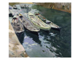 Boats at Rest Giclee Print by Joaquín Sorolla y Bastida