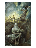 Elijah Bringeth Fire from Heaven Giclee Print by James Tissot