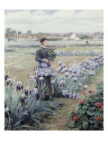 The Flower Fields Giclee Print by Daniel Ridgway Knight