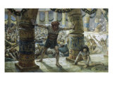 Samson Pulls Down the Pillars Giclee Print by James Tissot