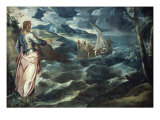 Christ at the Sea of Galilee Giclée-Druck von Jacopo Robusti Tintoretto