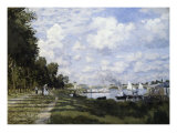 The Basin at Argenteuil Premium Giclee Print by Claude Monet