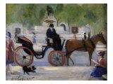 Central Park Carriage Giclee Print by George B. Luks