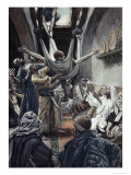 Palsied Man Let Down Through the Roof Giclee Print by James Tissot