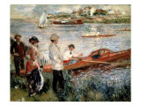 Oarsmen at Chatou Giclee Print by Pierre-Auguste Renoir