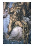Saint Bartholomew with His Flayed Skin Giclee Print by  Michelangelo Buonarroti