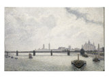 Charing Cross Bridge, London Giclee Print by Alfred Sisley