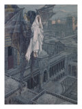 Jesus Taken Up to a Pinnacle of the Temple Giclee Print by James Tissot