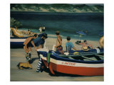 Beach at Nerja Giclee Print by Dale Kennington