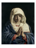 Madonna in Prayer Giclée-tryk af Giovanni Battista Salvi da Sassoferrato