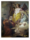 Abraham and the Three Angels Premium Giclee Print by Giovanni Battista Tiepolo