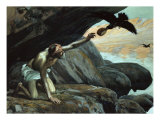 Elijah Fed by the Ravens Giclee Print by James Tissot