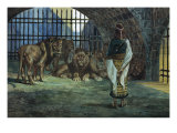 Daniel in the Lions Den Premium Giclee Print by James Tissot