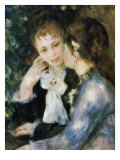Two Girls Talking Giclee Print by Pierre-Auguste Renoir