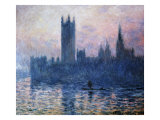 Sunset,The Houses of Parliament Giclee Print by Claude Monet