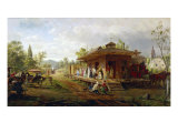 Station at Orange, New Jersey Giclee Print by Edward Lamson Henry