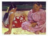 Tahitian Women (On the Beach) Giclee Print by Paul Gauguin