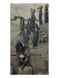 Moses at the Well at Midian Giclee Print by James Tissot