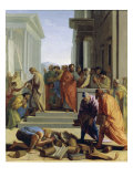 Saint Paul Preaching in Ephesus Giclee Print by Eustache Le Sueur