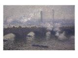 ウォータールー橋, 煙る曇り日 ジクレープリント : クロード・モネ