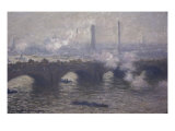 Waterloo Bridge: Gray Day Giclee Print by Claude Monet
