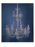 English Crystal Chandelier Giclee Print