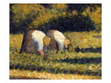 Farm Women at Work Giclee Print by Georges Seurat