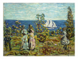 Viewing the Sailboats Giclee Print by Maurice Brazil Prendergast