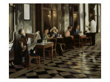 Cafe Florian Giclee Print by Dale Kennington