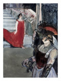 Opera Messalina at Bordeau Giclee Print by Henri de Toulouse-Lautrec