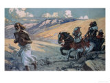 Elijah Runs Before the Chariot of Ahab Giclee Print by James Tissot