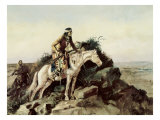 The Lookout Giclee Print by Charles Marion Russell