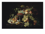 Still Life with Fruit Premium Giclee Print by Severin Roesen