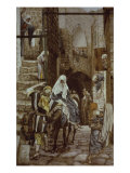 Joseph Seeks Lodging at Bethlehem Giclee Print by James Tissot
