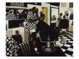 The Barbershop Giclee Print by Dale Kennington