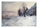 Lavacourt Under Snow Reproduction procédé giclée par Claude Monet