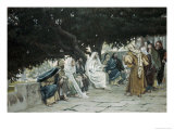 The Pharisees and Sadducees Come to Tempt Jesus Giclee Print by James Tissot
